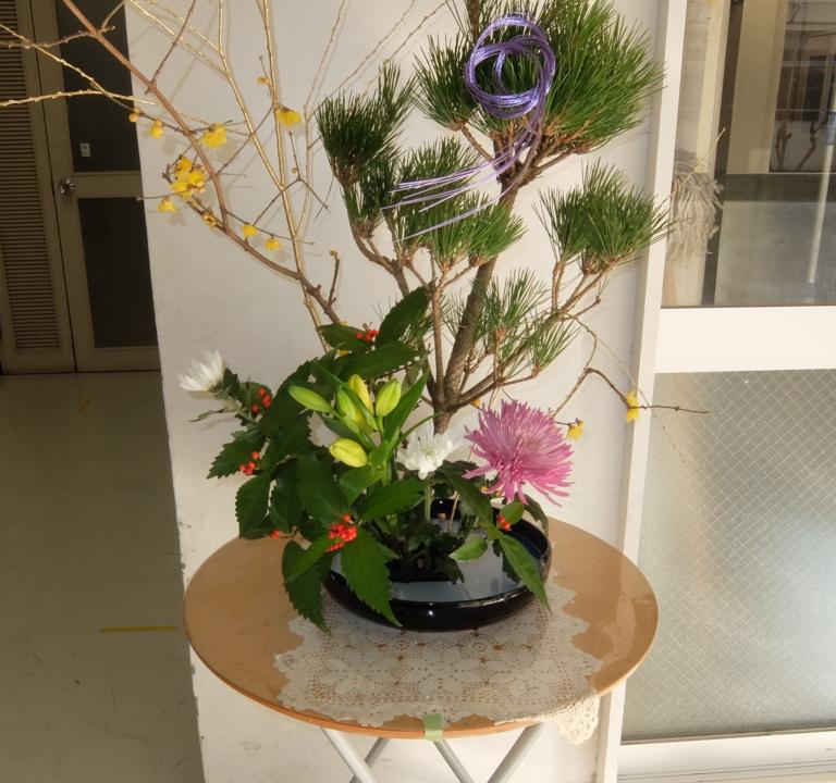 【イベント報告】令和2年度お正月花を生けよう